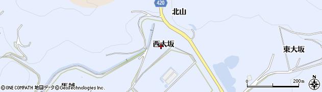 愛知県田原市和地町(西大坂)周辺の地図