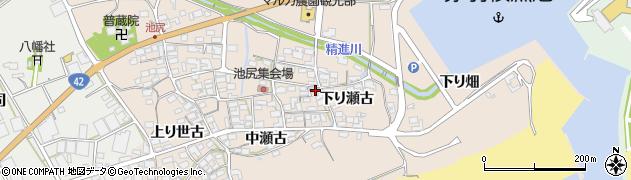 愛知県田原市池尻町(下り瀬古)周辺の地図