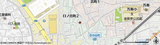 岡山県倉敷市日ノ出町周辺の地図