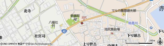 愛知県田原市池尻町(宮脇)周辺の地図