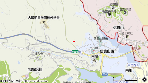 〒636-0834 奈良県生駒郡三郷町南畑の地図