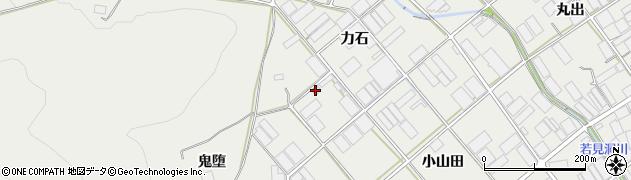 愛知県田原市若見町(力石)周辺の地図