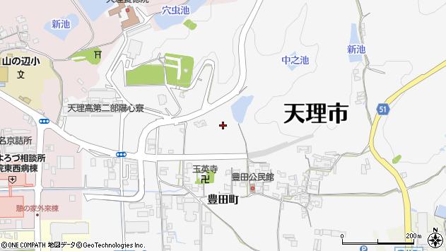 〒632-0012 奈良県天理市豊田町の地図