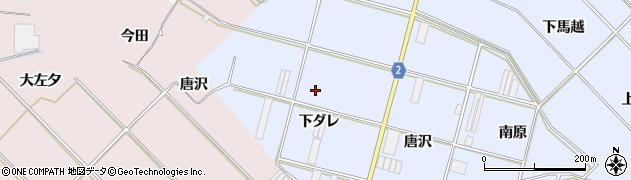 愛知県田原市小塩津町(下ダレ)周辺の地図
