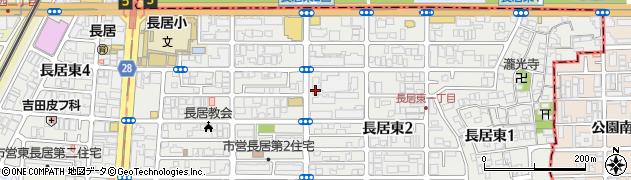 東長居団地周辺の地図
