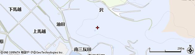 愛知県田原市小塩津町(沢)周辺の地図