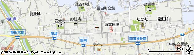 奈良県斑鳩町(生駒郡)龍田周辺の地図