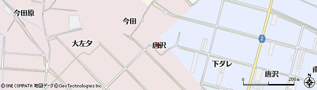 愛知県田原市堀切町(唐沢)周辺の地図