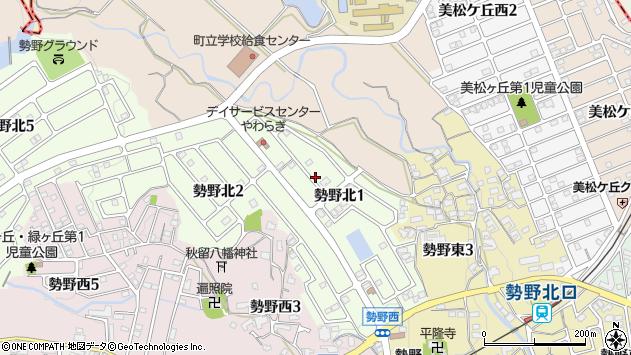 〒636-0815 奈良県生駒郡三郷町勢野北の地図