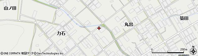 愛知県田原市若見町(丸出)周辺の地図
