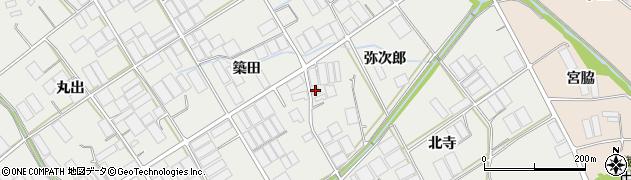 愛知県田原市若見町(弥次郎)周辺の地図