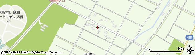 愛知県田原市西山町(大松)周辺の地図
