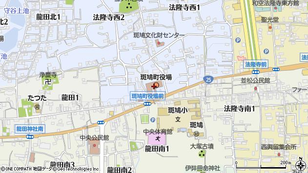 〒636-0100 奈良県生駒郡斑鳩町(以下に掲載がない場合)の地図