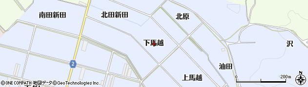 愛知県田原市小塩津町(下馬越)周辺の地図