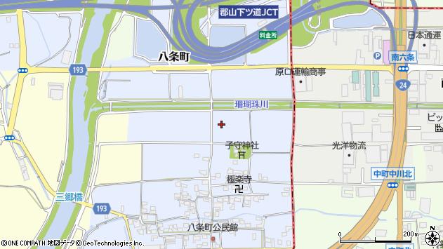 〒639-1125 奈良県大和郡山市八条町の地図
