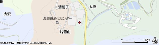 愛知県田原市長沢町(大鹿)周辺の地図
