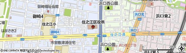 大阪府大阪市住之江区周辺の地図