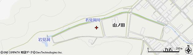 愛知県田原市若見町(山ノ田)周辺の地図