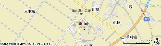 愛知県田原市亀山町(小中原)周辺の地図