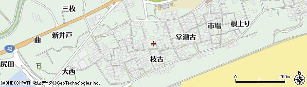 愛知県田原市赤羽根町(枝古)周辺の地図