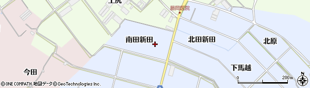 愛知県田原市小塩津町(南田新田)周辺の地図