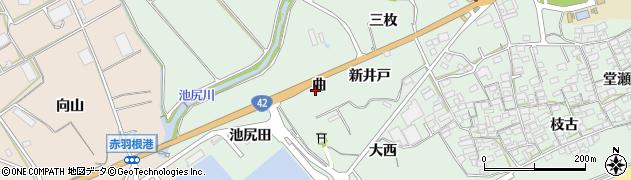 愛知県田原市赤羽根町(曲)周辺の地図