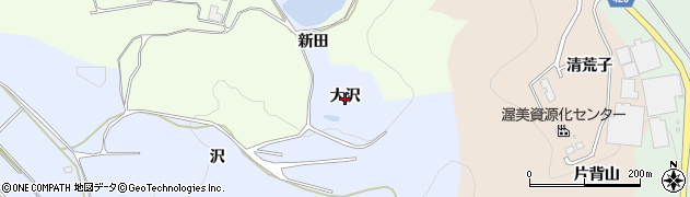 愛知県田原市小塩津町(大沢)周辺の地図