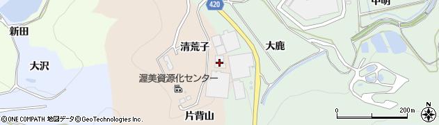 愛知県田原市福江町(片背山)周辺の地図