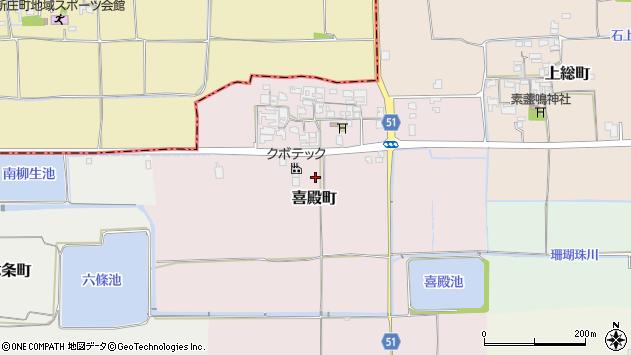 〒632-0095 奈良県天理市喜殿町の地図