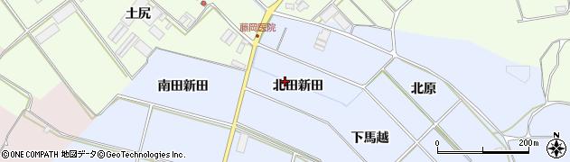 愛知県田原市小塩津町(北田新田)周辺の地図