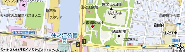 大阪護国神社周辺の地図