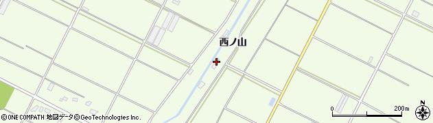 愛知県田原市西山町(西ノ山)周辺の地図