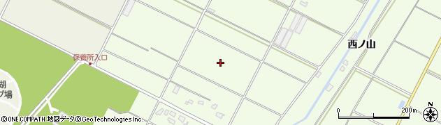 愛知県田原市西山町周辺の地図