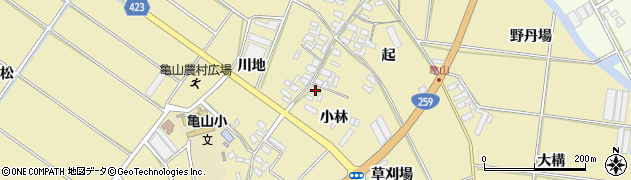 愛知県田原市亀山町(小林)周辺の地図