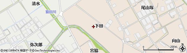 愛知県田原市池尻町(下田)周辺の地図