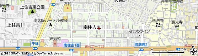 大阪府大阪市住吉区南住吉1丁目10-9周辺の地図
