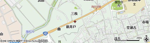 愛知県田原市赤羽根町(三枚)周辺の地図
