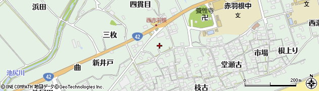 愛知県田原市赤羽根町(四貫目)周辺の地図