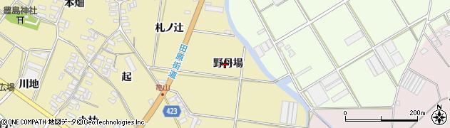 愛知県田原市亀山町(野丹場)周辺の地図