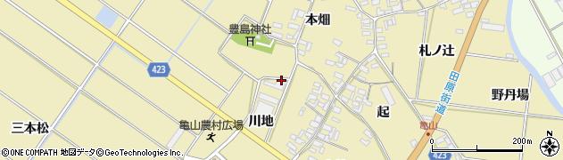 愛知県田原市亀山町周辺の地図