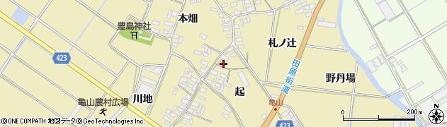 愛知県田原市亀山町(起)周辺の地図