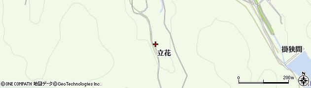 愛知県田原市山田町(立花)周辺の地図