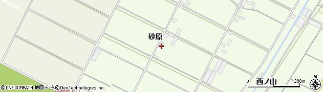 愛知県田原市西山町(砂原)周辺の地図