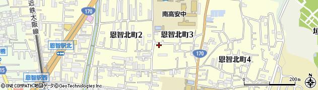 大阪府八尾市恩智北町周辺の地図