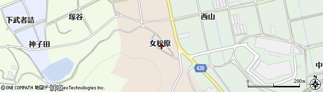 愛知県田原市福江町(女松原)周辺の地図