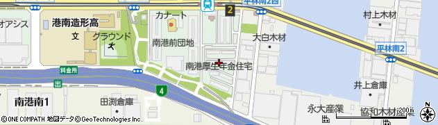 南港厚生年金住宅周辺の地図