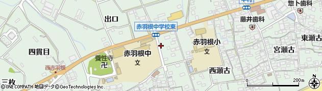 愛知県田原市赤羽根町(出口)周辺の地図