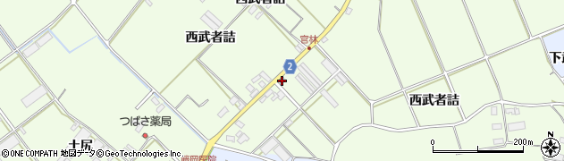 愛知県田原市保美町(西武者詰)周辺の地図