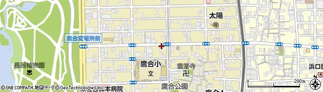 大阪府大阪市東住吉区鷹合周辺の地図
