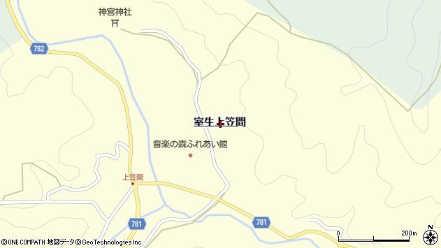 〒632-0202 奈良県宇陀市室生上笠間の地図